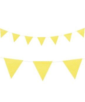 Yellow with Polka Dots - Paper Flag Banner