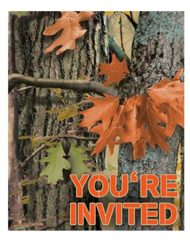 Hunting Camo Invitations (8) - Multi-colored