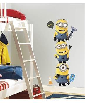 Boys Minions Despicable Me - Giant Wall Decals - Multi-colored