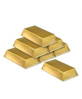 Plastic Gold Bar Decorations