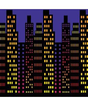 Men's Cityscape Backdrop - Multi-colored for Halloween