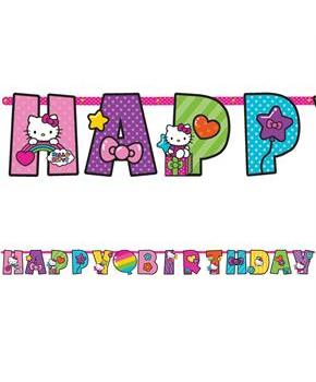 Hello Kitty Rainbow Jumbo Letter Banner Kit