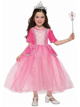 Girl's Princess Silver Rose Costume
