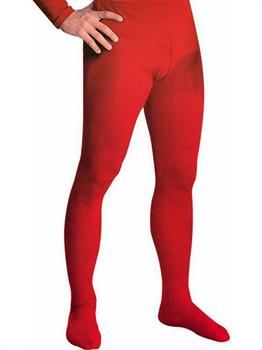 Men's Professional Tights With Feet Red