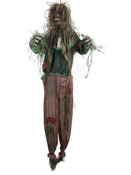 5 Foot Animated Light Up Hanging Scarecrow Clown