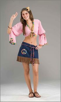 Sexy Generation Hippie Chickie Costume Skirt Adult