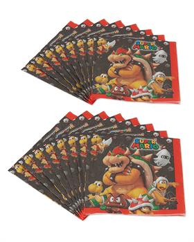 Super Mario Bros. Luncheon Napkins, 16 Count