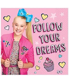 "JoJo Siwa 8"" Lunch Napkins, 16-Pack"