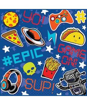"Epic Party 6.5"" Lunch Napkins, 16-Pack"