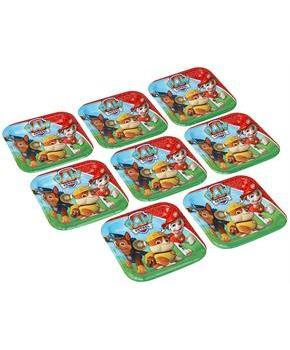 "Paw Patrol 7"" Square Paper Plates 8ct"