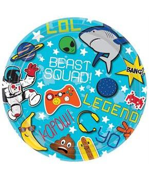 "Epic Party 7"" Round Paper Party Plates, 8-Pack"