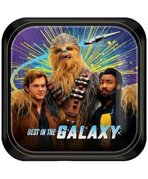 "Star Wars Han Solo 7"" Square Paper Party Plates, 8-Pack"