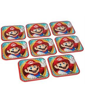 "Super Mario Bros. 9"" Square Paper Plates, 8 Count"