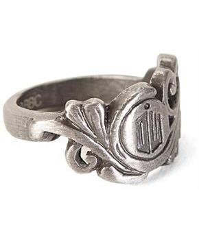 Doctor Who Small Scroll Deco Logo Ring