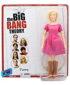 "Big Bang Theory 8"" Retro Clothed Action Figure, Penny"