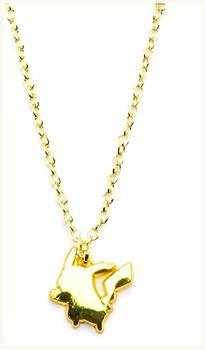 Pokemon Pikachu Gold Plated Pendant Necklace