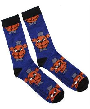 Five Nights At Freddy's Freddy Fazbear Men's Crew Socks, One Pair