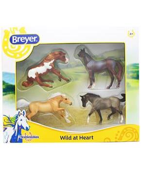 Breyer 1:32 Stablemates 4-Pack Wild at Heart Model Horse