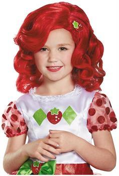 Stawberry Shortcake Deluxe Child Costume Wig One Size