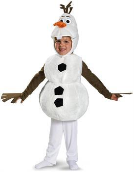 Boys Frozen Disney Deluxe Olaf Child Toddler Costume - 4-6