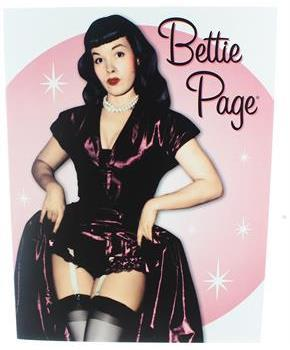 Bettie Page Sticky Note Book: Pink