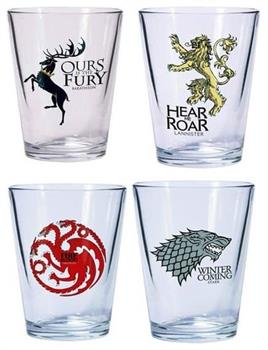 Game Of Thrones Shot Glass Set Of 4