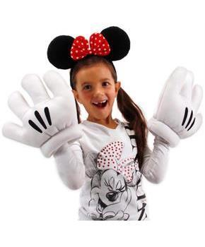 Disney Minnie Ears and Gloves Costume Accessory Set