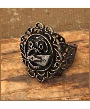 Steampunk Antique Single Gear Costume Ring Adult