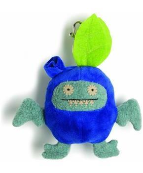 "Ugly Dolls Fruities 4"" Plush Clip-On: Ice-Bat Blueberry"