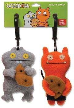 "Ugly Dolls 5"" Plush Clip-On: Best Friends Babo and Wage"