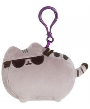 "Pusheen The Cat 4.5"" Plush Backpack Clip: Pusheen with Sunglasses"