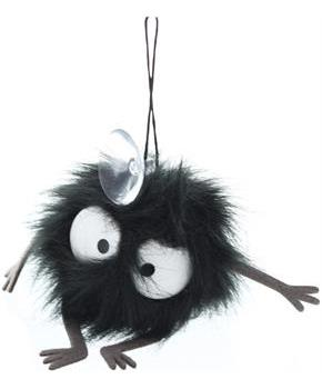 "Spirited Away Soot Sprite 2"" Cling Plush with Suction Cup"