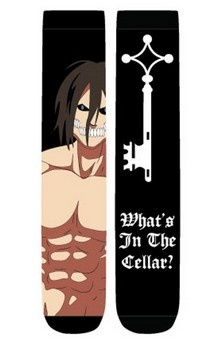 "Attack on Titan ""What's In The Cellar"" Unisex Crew Cut Socks: 2-Pack"