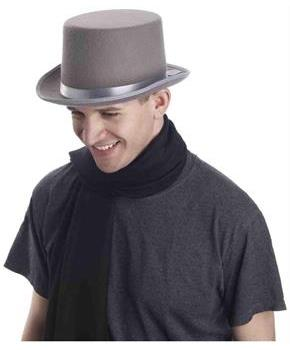 Super Deluxe Grey Adult Male Costume Top Hat