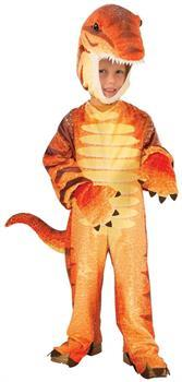 Plush Orange Raptor Dinosaur Costume Child Toddler