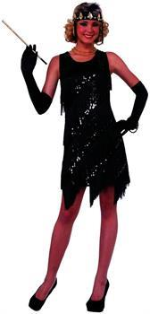 Midnight Dazzle 20's Flapper Gangster Gal Adult Costume