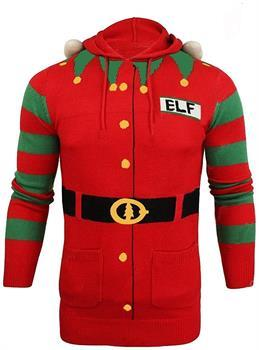 Christmas Elf Hooded Knit Sweater