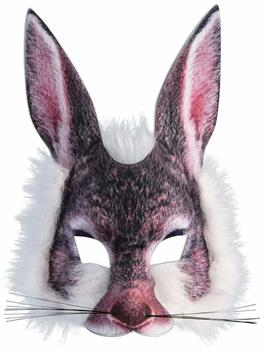 Furry Rabbit Adult Costume Half Mask