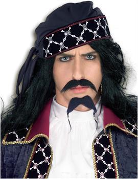 Deluxe Pirate Costume Moustache and Beard Set