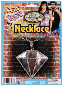 Hip Hop Big Diamond Necklace Costume Jewelry