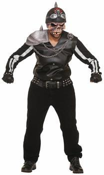 Scary Zombie Biker Motorcycle Rider Costume Adult
