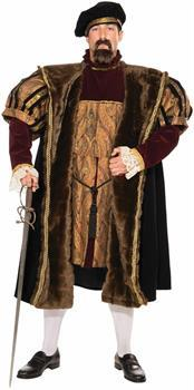 Medieval King Henry VIII Costume Adult