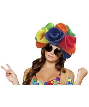 Flowers Wig Adult Foam Costume Hat - One Size