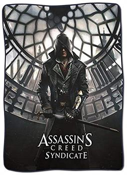 "Assassin's Creed Syndicate 45""x60"" Fleece Blanket w/ Metallic Accent Printing"