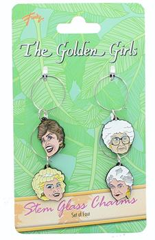 Golden Girls Wine Charms, Set of 4