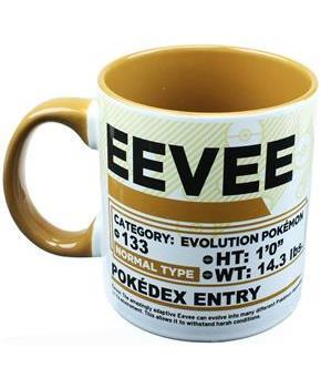 Pokemon Pokedex Evee 20oz Ceramic Mug