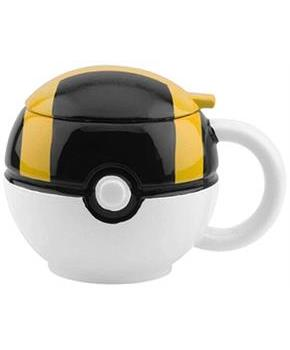 Pokemon GO Ultra Ball 16oz Ceramic Molded Coffee Mug w/ Lid
