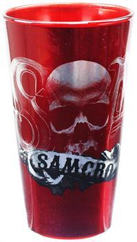 Sons of Anarchy SAMCRO Red Aluminum 16oz Pint Glass