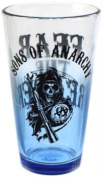 Sons of Anarchy Reaper Blue Tint 16oz Pint Glass