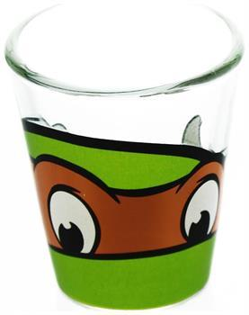 Teenage Mutant Ninja Turtles Michelangelo Clear Shot Glass